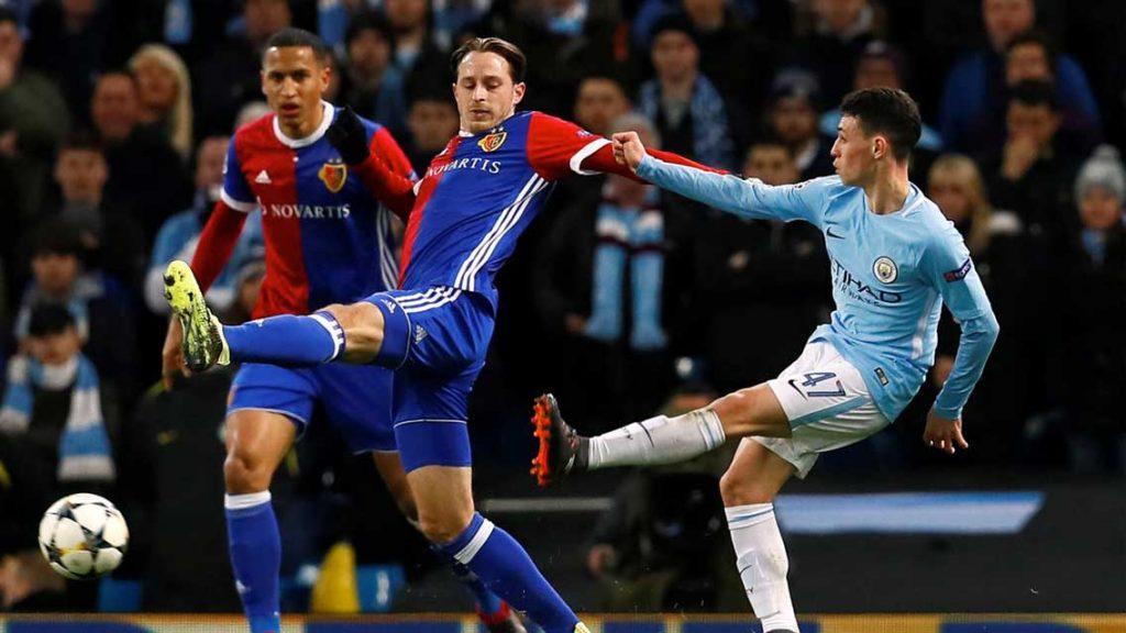 Manchester City afloja y Basel lo vence en Champions