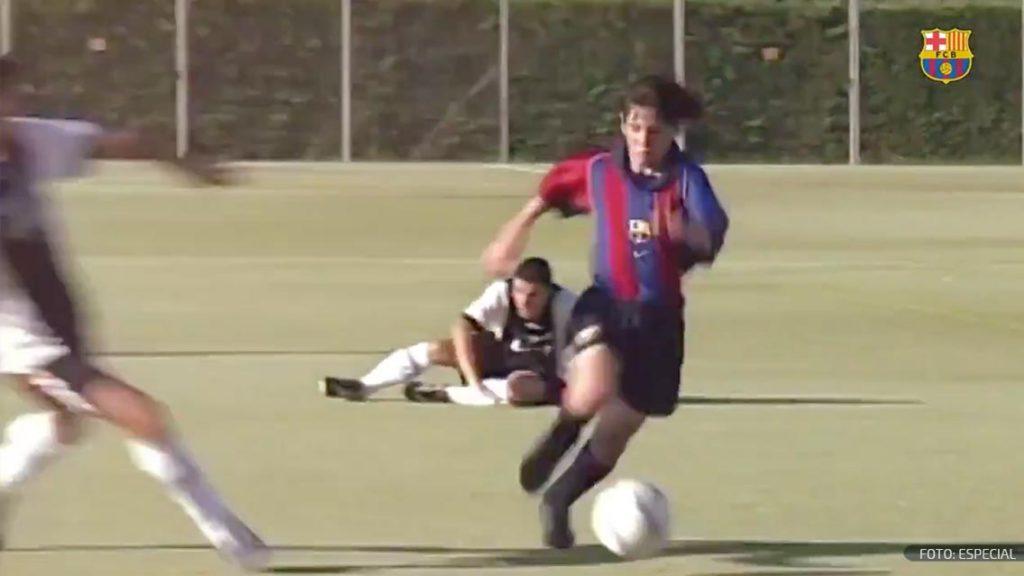 Así inició Messi su carrera en el Barcelona hace 17 años