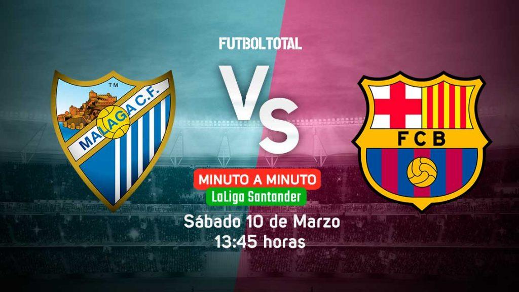 Málaga CF vs FC Barcelona | LaLiga | EN VIVO: Minuto a minuto