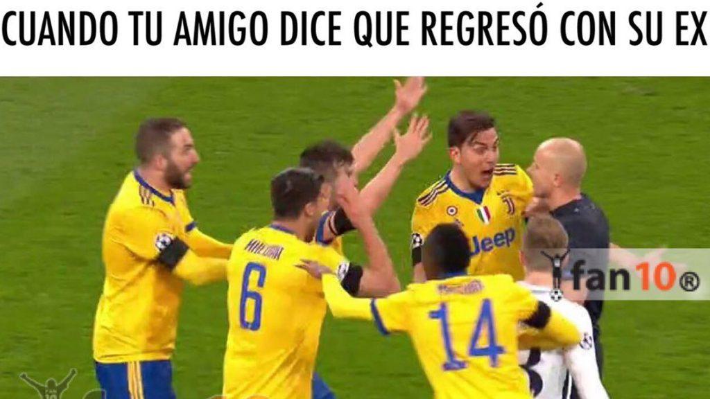Los memes del resurgimiento de la Juventus en la Champions