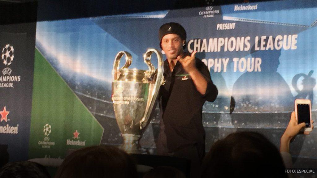 ¡La Champions League y Ronaldinho llegaron a la CDMX!
